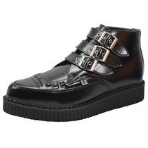Zapato Tuk Dama Urbano Hassan-a8503 Creeper Negro Rudos