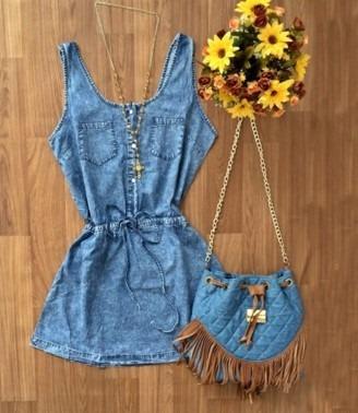 Vestido jeans curto 2016