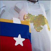 Camisa Venezuela Lentejuela Brillante + Choker| Tienda Físca