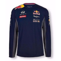 Camiseta De Frio Manga Comprida Fã De Fórmula 1 F1 Red Bull
