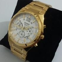 Relogio Orient Dourado Mgssc009 S2kx - Masculino
