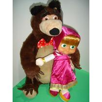 Boneca Masha E O Urso Masha Musical Urso Pelúcia Grande