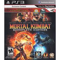 Jogo Ps3 Mortal Kombat Komplete Edition Original