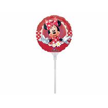 10 Balões Metalizados 9 Minnie Vermelha - Redondo