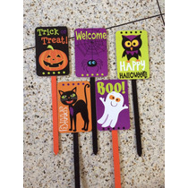 Decoración Halloween Carteles Fiestas Infantil Estaca Jardín
