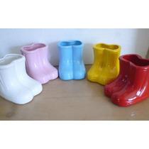 *0518*vaso Bota Peppa Pig De Porcelana