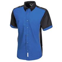Camisa Escudería Azul Para Hombre