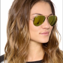 Gafas Ray Ban Aviator Gold 24 Kilates Mirror Aviador 3025