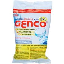 Pastilha Genco De Cloro 3 Em 1 - 200 Grs - Kit Com 10 Pçs