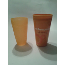 6 Vasos, Naranja Coral, Plastico, Uso En Microhondas