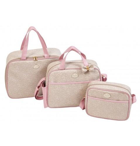 757987759 Kit Maternidade Clássico Com 3 Pçs - Mala , Bolsa E Mini Bag - R$ 359,00 em  Mercado Livre