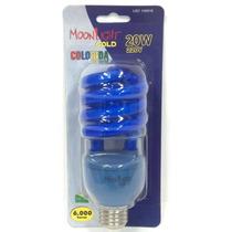 Lâmpada Compacta Colorida Espiral 20w 220v Azul