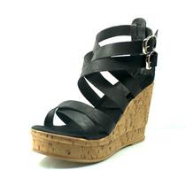 Sandalias Con Plataforma. Zapatos Lindos. Saphira Ss17.