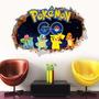 3d Wall Sticker Adesivo 3d Piso Parede Pokemon Go Pikachu