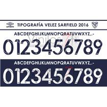 Estampados Números Tipografía Velez 2016
