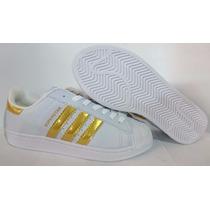 Tênis Adidas Superstar Feminino Original Novo E Barato