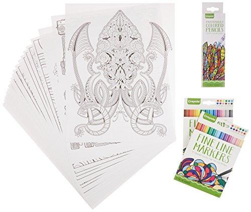 Libro Para Colorear Adulto Crayola - $ 1,089.00 en Mercado Libre