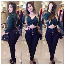 Calça Jeans Feminina Cintura Alta Apenas R$ 49,90