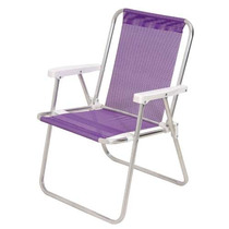 Cadeira Alta Alumínio Sannet Lilás - Mor