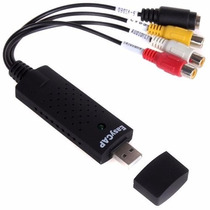 Capturador Easycap Usb 2.0 Video Audio Adaptador Rca S-video