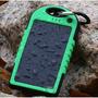 Cargador Solar Portátil 5000 Mah Celular Doble Usb Linterna