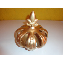 Coroa Em Cerâmica Média Linda Peça P/decoração