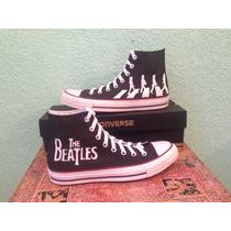 Tenis Personalizados Pintado The Beatles Banda Música Rock