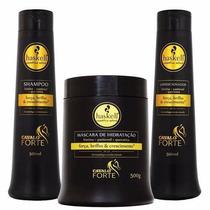 Kit Cavalo Forte 500ml Shampoo Condicionador Máscara