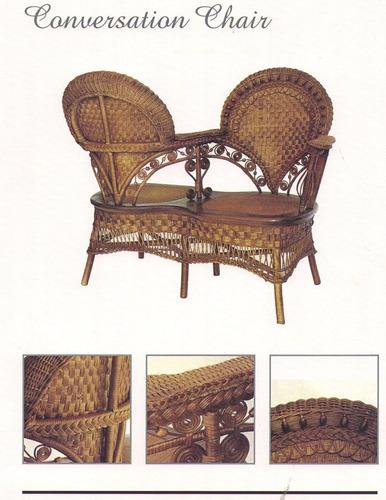 muebles de rattan estilo victoriano sin uso 1 00 en On muebles rattan uruguay