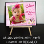 Minnie Bb 15 Mini Atril Souvenirs + Cartel De Regalo Cumple