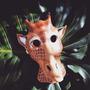 Máscara Jirafa De Cuero Antifaces Animales Disfraz Fiestas