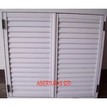 Postigo Celosía P/ventana 150x90 Aluminio Blanco 2 Hojas