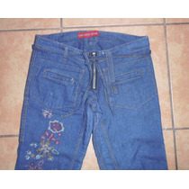 Jeans Capri Ona Saez Bordado Talla 38