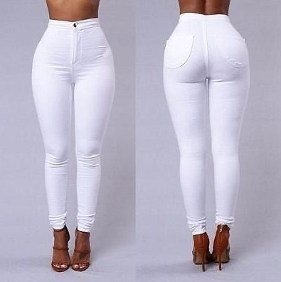 60dfca63a Calça Branca De Cintura Alta Skinny Com Lycra - R$ 84,99 em Mercado ...