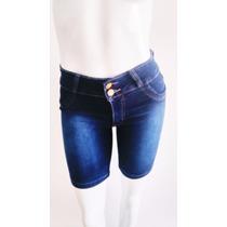 Shorts Bermuda Jeans Feminino