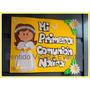 Cartel Mi 1º Comunión Bautismo Cumple Nombres Guirnaldas