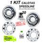 Kit Calota Caminhão Traseira + Dianteira Speedline Aro 22,5