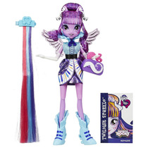 Muñeca My Little Pony Equestria Twilight Peinado Rockero