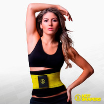 Faja Cinturilla Comp Mujer Hot Belt Power Extreme L/xl + Gel