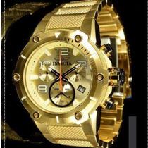 Relógio Invicta 19529 Speedway Original Dourado B Ouro 18 K
