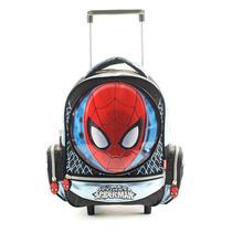 Mochila Con Carro Spiderman Jardin Licencia Original 12