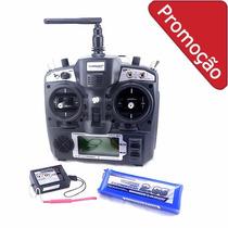 Rádio Turnigy 9x 9ch + Receptor + Bateria Lipo 2650 3s 11.1v
