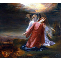 Lienzo Tela Cristo La Agonía En El Jardín Arte Sacro 50 X 60