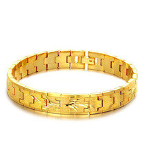 Pulseira Masculina Bracelete Banhada Em Ouro Amarelo 18k