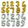 Globos Metalizados Numeros