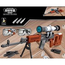 Replica Armar Rifle Svd Dragunov Compatible Lego 720 Pzas