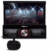 Toca Cd Dvd Retratil Usb Sd Bluetooth Radio Fm+ Camera De Ré