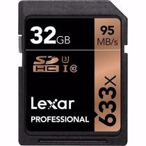 Memoria Lexar Sdhc 32gb Clase 10 633x 95mb/s Fullhd 4k