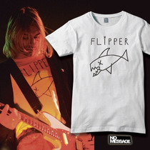 Remera Unisex Estampada Kurt Cobain Flipper Rock Música