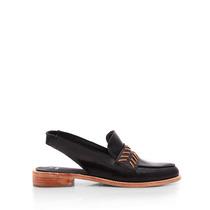 Zapatos Tipo Mocasin Con Talon Abierto Blaque